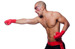 Badly beaten boxer Royalty Free Stock Images