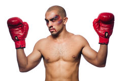 Badly beaten boxer Royalty Free Stock Photo