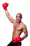 Badly beaten boxer Royalty Free Stock Photography