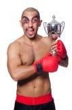 Badly beaten boxer Stock Image