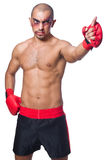 Badly beaten boxer Royalty Free Stock Photos