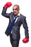 Badly beaten businessman stock photos