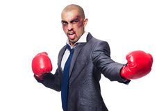 Badly beaten businessman Royalty Free Stock Image
