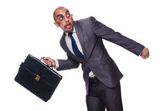 Badly beaten businessman isolated Stock Photography