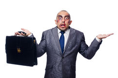 Badly beaten businessman isolated Royalty Free Stock Photo