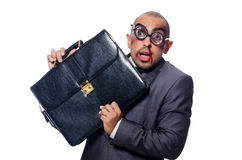 Badly beaten businessman Royalty Free Stock Images