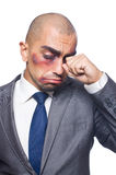 Badly beaten businessman Royalty Free Stock Photos