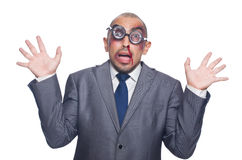Badly beaten businessman Royalty Free Stock Photo
