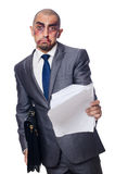Badly beaten businessman Royalty Free Stock Photography