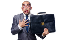 Badly beaten businessman Stock Images
