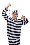 Badly bruised prisoner Royalty Free Stock Photography