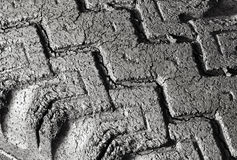 Badly Cracked Tire Tread Stock Image