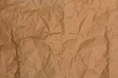 Badly crumpled paper Royalty Free Stock Photo
