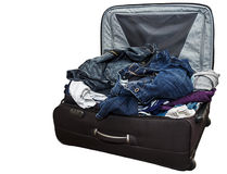 Badly Packed Suitcase Royalty Free Stock Photo