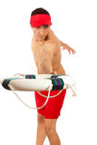 Badmeester Stock Foto