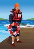 Badmeester stock illustratie