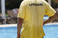 Badmeester bij de pool Royalty-vrije Stock Afbeelding