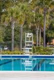 Badmeester Chair bij Zeven Voet Teken Stock Fotografie