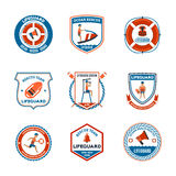 Badmeester Emblems Set Stock Afbeelding