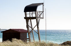 Badmeester in het Strand Stock Foto