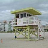 Badmeester in het strand van Miami royalty-vrije stock foto