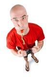 Badmeester met fluitje Royalty-vrije Stock Fotografie
