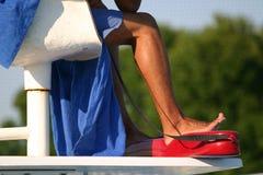 Badmeester op plicht Stock Foto's
