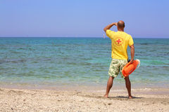 Badmeester op plicht Royalty-vrije Stock Fotografie
