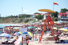 Badmeester in Roemenië 2 Mai Romania-kust Stock Afbeeldingen