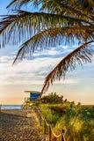 Badmeester Tower, het Strand van Miami, Florida stock foto's