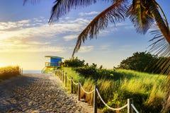 Badmeester Tower, het Strand van Miami, Florida Stock Fotografie