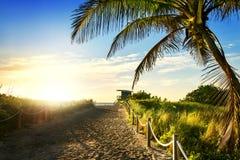 Badmeester Tower, het Strand van Miami, Florida Stock Afbeelding
