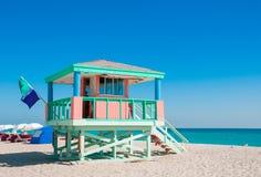 Badmeester Tower in Zuidenstrand, het Strand van Miami Stock Fotografie