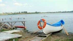 Badmeesterboot stock foto's