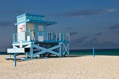 Badmeesterhut op Haulover-Parkstrand in Florida Royalty-vrije Stock Foto