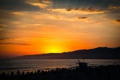Badmeesterhut op het strand Stock Fotografie