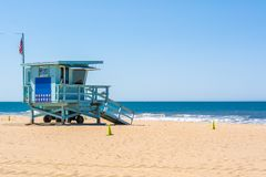 Badmeestertoren bij Santa Monica-strand royalty-vrije stock afbeelding