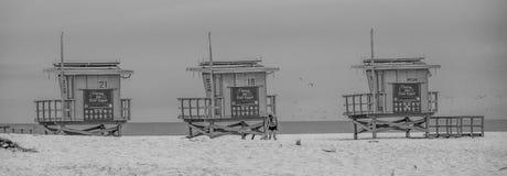 Badmeestertorens in Venice Beach - CALIFORNI?, de V.S. - 18 MAART, 2019 stock afbeeldingen