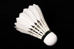 Badminton. Ball isolated in black Royalty Free Stock Photo