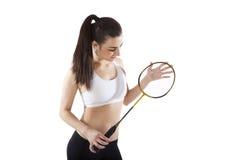 Badminton. imagens de stock