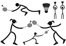 badminton illustration stock