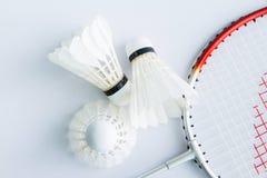 Badminton accessories Stock Images