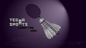 Badminton background with slogan Royalty Free Stock Photography