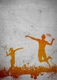 Badminton background Royalty Free Stock Image