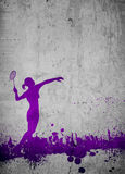 Badminton background Royalty Free Stock Images
