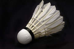 Badminton ball. Single Badminton ball on black background, isolated Stock Photos