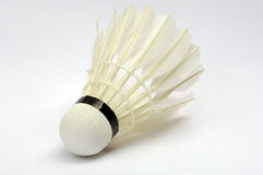 Badminton ball. Single Badminton ball on white background, isolated Stock Image
