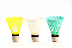 Badminton ball. On white background royalty free stock image