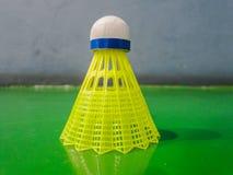 Badminton balls on the badminton court. The badminton balls on the badminton court stock photos
