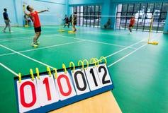 Badminton game Stock Image